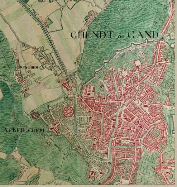 [Map of Ghent in 1775]